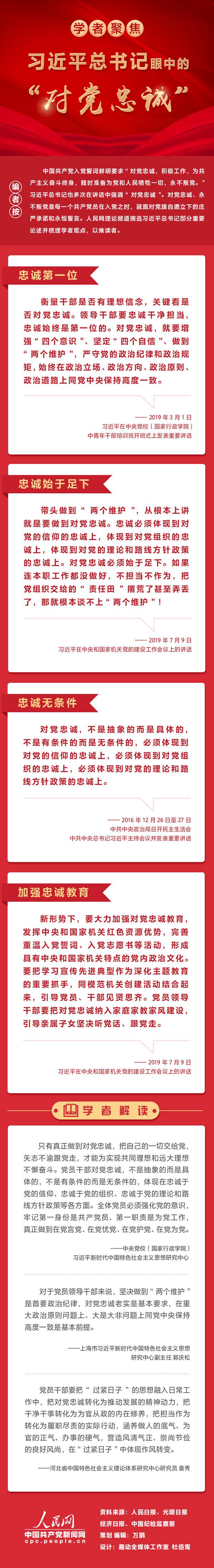 """图解:习近平总书记眼中的""""对党忠诚"""