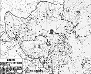 图2:唐代版图与疆域;图2反映了唐鼎盛时中国的疆域,东至今萨